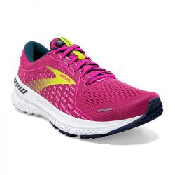 Brooks - zapatillas brooks adrenaline gts 21 mujer 38 5398 - raspberry / pink / sulfur